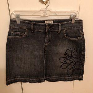 White House Black Market Jean Skirt